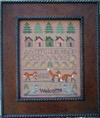 Designs by Lisa - Woodland Sampler - Cross Stitch Pattern