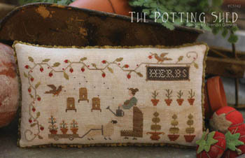 With Thy Needle & Thread - Potting Shed, The - Cross Stitch Pattern