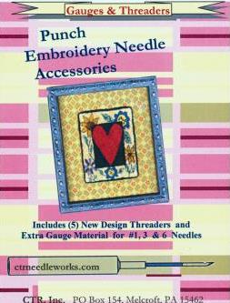CTR Needleworks Punch Embroidery Set-CTR Needleworks Punch Embroidery Set, threaders,