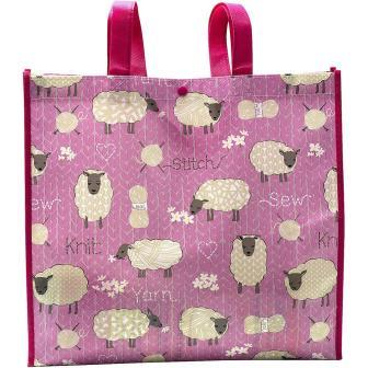 Tacony - Stitch & Knit Sheep Reusable Tote Bag-Tacony - Stitch  Knit Sheep Reusable Tote Bag, projects, sewing, stitching, knitting,