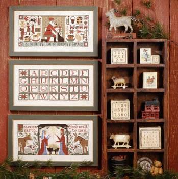 Prairie Schooler - Christmas Traditions-Prairie Schooler - Christmas Traditions, Santa Claus, toys, Mary, Joseph, Jesus, Christmas, cross stitch