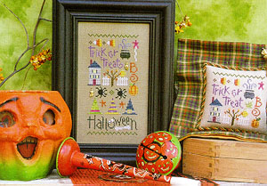 Lizzie Kate - Halloween Sampler with charms-Lizzie Kate - Halloween Sampler with charms