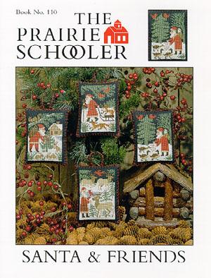 Prairie Schooler - Santa & Friends-Prairie Schooler - Santa  Friends, Santa Claus, forest, animals, ornaments, Christmas, Cross stitch