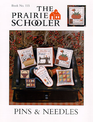 Prairie Schooler - Pins & Needles-Prairie Schooler - Pins  Needles, sewing, pin cushions, pillows, cross stitch
