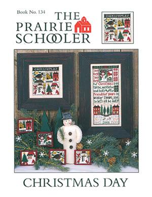 Prairie Schooler - Christmas Day-Prairie Schooler - Christmas Day, Christmas, Santa Claus, snowman, Christmas trees, ornaments,