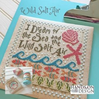 Hands On Design - Wild Salt Air-Hands On Design - Wild Salt Air, ocean, starfish, waves, fish, cross stitch