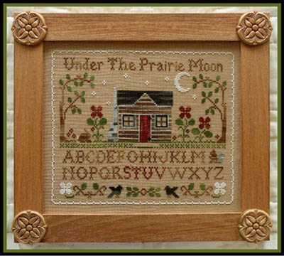 Little House Needleworks - Prairie Sampler-Little House Needleworks - Prairie Sampler, Fall, moon, house, cross stitch