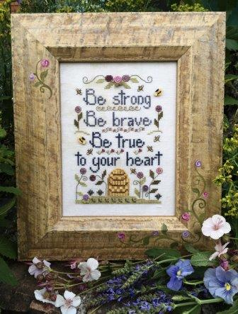 Shepherd's Bush - Be True to Your Heart-Shepherds Bush - Be True to Your Heart , love, strong, brave, beehive, bees, cross stitch