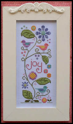 Country Cottage Needleworks - Joyful Summer-Country Cottage Needleworks - Joyful Summer, birds, flowers, sunshine, sun, happiness, cross stitch