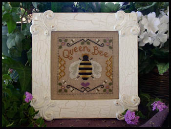 Little House Needleworks - Queen Bee-Little House Needleworks - Queen Bee, honey, bees, bee hive, insects, cross stitch