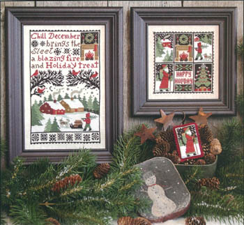 #150 Prairie Schooler - December-Prairie Schooler - December, winter, Christmas, Santa Claus, Christmas tree, holidays, cross stitch