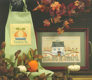 Cross-Eyed Cricket - Rest & Be Thankful-Cross Eyed Cricket - Rest  Be Thankful, Thanksgiving, thankful, pumpkin pie, gratitude, fall, cross stitch