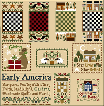 Little House Needleworks - Something Old, Something New-Little House Needleworks - Something Old, Something New, free charts, americana, designs, cross stitch, sheep, USA,