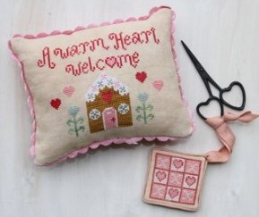 Hodgepodge Cottage - Warm Heart Welcome - Cross Stitch Pattern-Hodgepodge,Cottage,Warm,Heart,Welcome,