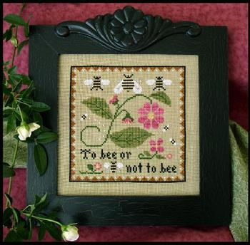 Little House Needleworks - Bee Sampler-Little House Needleworks - Bee Sampler, flowers, bees, honey, cross stitch