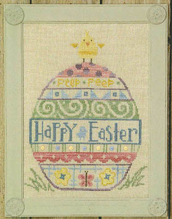 Bent Creek - Uber Egg-Bent Creek - Uber Egg, Easter egg, Easter egg hunt, spring, flowers, cross stitch