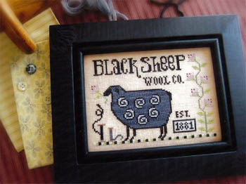 Plum Street Samplers - Sophie's Sheep-Plum Street Samplers - Sophies Sheep, wool, lamb, fibers, flowers, cross stitch