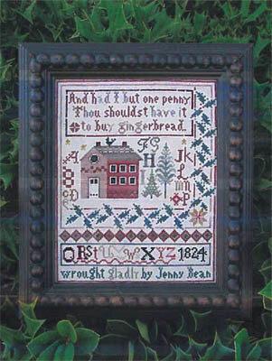 Shakespeare's Peddler - Jenny Bean's Christmas Sampler-Shakespeares Peddler - Jenny Beans Christmas Sampler, home, family, Christmas tree, cross stitch