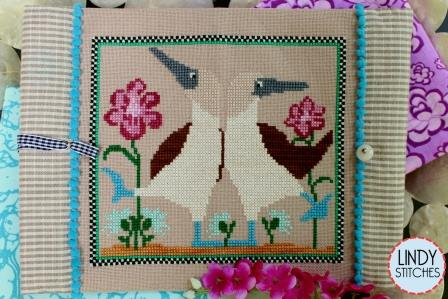 Lindy Stitches - Beach Dance-Lindy Stitches - Beach Dance, Blue Footed Boobies, birds, beach, flowers, cross stitch