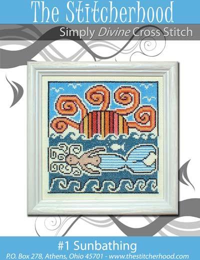The Stitcherhood - Sunbathing - Cross Stitch Pattern-The Stitcherhood - Sunbathing - Cross Stitch Pattern