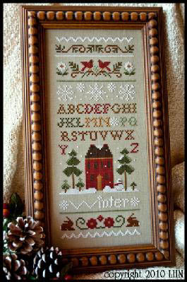 Little House Needleworks - Winter Band Sampler-Little House Needleworks - Winter Band Sampler, snow, cross stitch