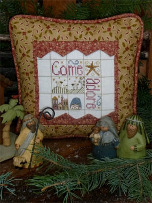 Shepherd's Bush - Come Adore-Shepherds Bush  Come Adore  Cross Stitch Pattern