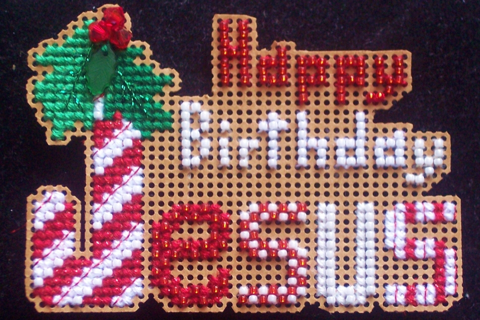 Flowers 2 Flowers - Happy Birthday Jesus - Cross Stitch Pattern