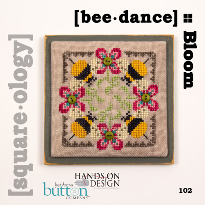 Hands On Design & Just Another Button Company - Square.ology - bee�dance - Bloom-Hands On Design  Just Another Button Company- Square-ology - beedance - Bloom, bees, flowers,