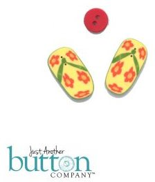 #10277 Just Another Button Company - Flip Flop Buttons-Just Another Button Company - Flip Flop Buttons, summer, beach, sand, shoes, cross stitch, buttons