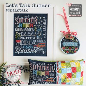 Hands On Design - Let's Talk Summer-Hands On Design - Lets Talk Summer, vacation, beach, road trip, smores, daisies, chalk, cross stitch