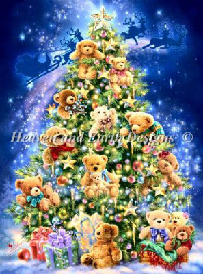 Heaven and Earth Designs - Teddy Bear Tree - Cross Stitch Pattern-Heaven and Earth Designs, teddy Bear Tree, cross stitch chart