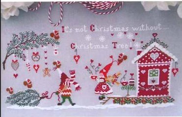 Cuore e Batticuore - None Natale senza Albero di Natale-Cuore e Batticuore - None Natale senza Albero di Natale, Its not Christmas without Christmas tree, Christmas, decorating, gnomes, snow, cross stitch