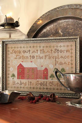 Heartstring Samplery - Baby It's Cold Outside-Heartstring Samplery - Baby Its Cold Outside, Christmas, songs, snow, winter, fireplace, cross stitch