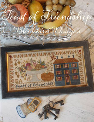 Blackbird Designs - Feast of Friendship-Blackbird Designs - Feast of Friendship, Thanksgiving, family, meal, harvest, cross stitch, pumpkin,