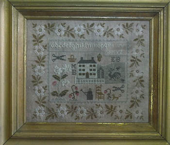Stacy Nash Primitives - Tribute to Summer Sampler-Stacy Nash Primitives - Tribute to Summer Sampler, summertime, house, flowers, samplers, historic, cross stitch