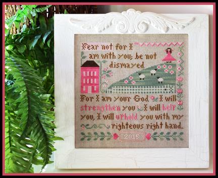 Little House Needleworks - Fear Not-Little House Needleworks - Fear Not, Breast cancer, bible verse, trust in God, cross stitch,