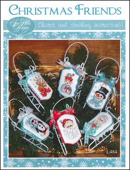 Sue Hillis Designs - Christmas Friends-Sue Hillis Designs - Christmas Friends, sleds, ornaments, cross stitch