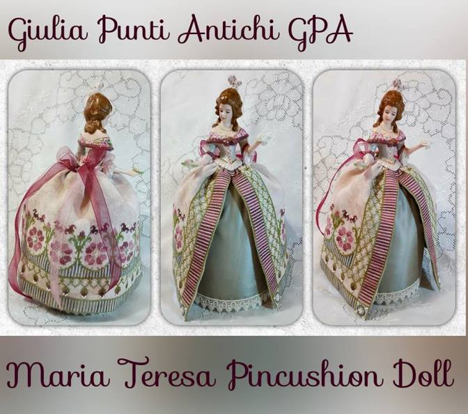 Giulia Punti Antichi - Maria Teresa Pincushion Doll-Giulia Punti Antichi - Maria Teresa Pincushion Doll, Nasvhille,