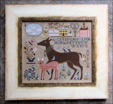 Kathy Barrick - Dearie and Darling-Kathy Barrick - Dearie and Darling, deer, forest, mother, fawn, deer couple, cross stitch,