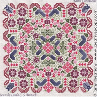 Tam's Creations - Secret Garden Mandala-Tams Creations - Secret Garden Mandala, flowers, cross stitch,  geometric, banner, table runner