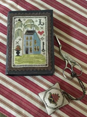 Chessie & Me - Delaware Stitch Book-Chessie  Me - Delaware Stitch Book, blue house, needle book, cross stitch