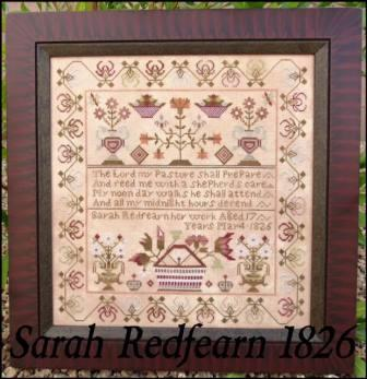 The Scarlett House - Sarah Redfearn 1826-The Scarlett House - Sarah Redfearn 1826, sampler, historic,