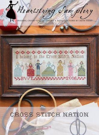 Heartstring Samplery - Cross Stitch Nation-Heartstring Samplery - Cross Stitch Nation, Stitchers, club, ladies, stitching,