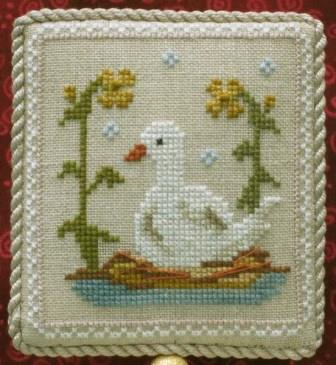 Historic Handworkes - The 12 Sampler Days of Christmas - Part 06 of 12 - Six Geese A Laying-Historic Handworkes - The 12 Sampler Days of Christmas, Six Geese A Laying, Christmas, Ornament, goose, cross stitch