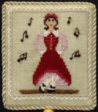 Historic Handworkes - The 12 Sampler Days of Christmas - Part 09 of 12 - Nine Ladies Dancing-Historic Handworkes - The 12 Sampler Days of Christmas, Nine Ladies Dancing, Christmas, ornaments, cross stitch