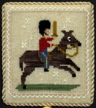 Historic Handworkes - The 12 Sampler Days of Christmas - Part 10 of 12 - Ten Lords A Leaping-Historic Handworkes - The 12 Sampler Days of Christmas, Ten Lords A Leaping, Christmas, ornament,  cross stitch