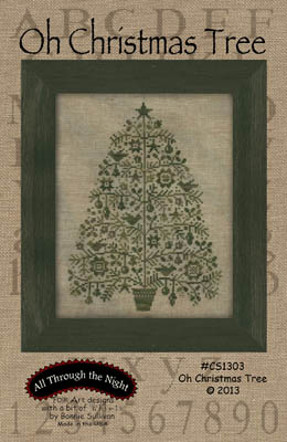 All Through the Night - Oh Christmas Tree-All Through the Night - Oh Christmas Tree, Christmas, ornaments, Christmas decorations, primitive, cross stitch
