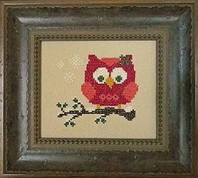 Cherry Hill Stitchery - Red Holiday Owl-Cherry Hill Stitchery - Red Holiday Owl