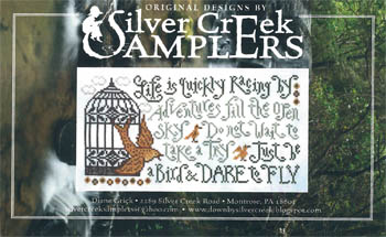 Silver Creek Samplers - Dare to Fly-Silver Creek Samplers - Dare to Fly, bird, birdcage, life, cross stitch
