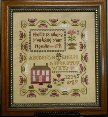 Abby Rose Designs - Home Is Where You Hang Your Needlework-Abby Rose Designs - Home Is Where You Hang Your Needlework, houses, country, sampler, cross stitch patterns